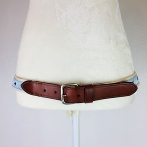 J. Crew Accessories - J. Crew Leather and Canvas Shark Belt Size 34